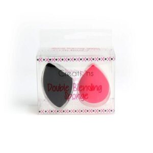 BEAUTY CREATIONS Double Blending Sponge must ja roosa meigikäsn