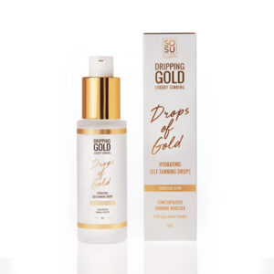 DRIPPING GOLD LUXURY TANNING Drops Of Gold Hydrating Self-tanning Drops isepruunistuvad näotilgad